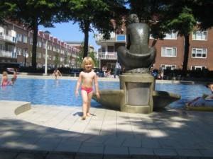 Peuterbadje Gibraltarbad in Amsterdam